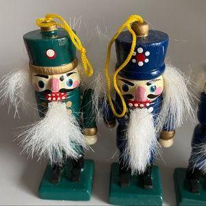Vintage NUTCRACKERS Wood Ornament